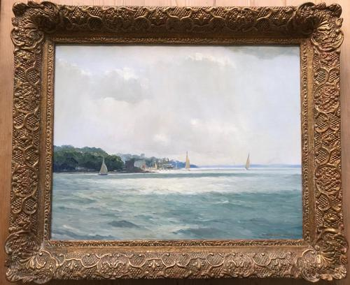 'Castle Point, Cowes' Oil Painting by W.H.Jarvis RSMA Signed 1953 (1 of 5)