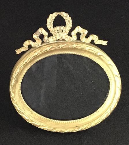 Very Good Small Victorian Oval Brass Easel Photo Frame (1 of 4)