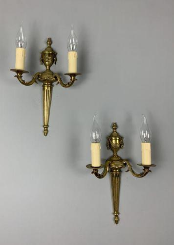 Pair of 1920s French Wall Lights, Rewired (1 of 8)