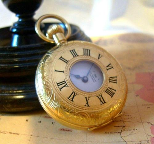 Vintage Pocket Watch 1970s Swiss County 17 Jewel 12ct Gold Plated FWO (1 of 12)