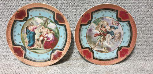 Pair Vienna Porcelain Chargers (1 of 9)