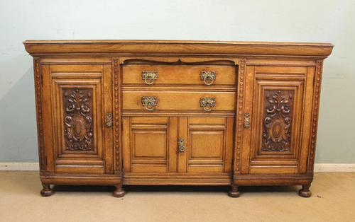 Antique Late 19th Century Oak Sideboard Dresser Base. (1 of 14)