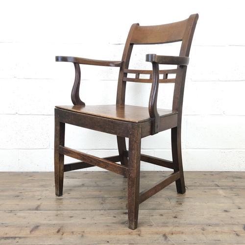 Antique 19th Century Welsh Oak Farmhouse Chair (1 of 10)