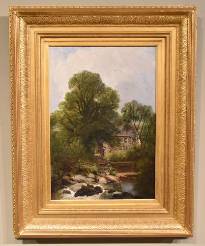 """Oil Painting by Joseph Paul Pettitt """"The Mill at Capel Currig, North Wales"""" (1 of 4)"""