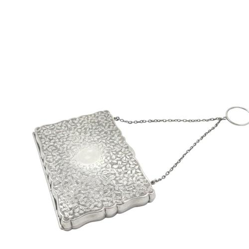 Antique Victorian Sterling Silver Calling Card Case 1891 (1 of 9)