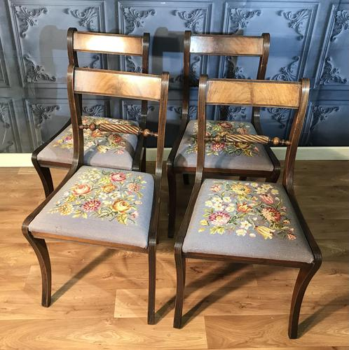 Set of Four Regency Style Dining Chairs by Gill & Reigate (1 of 12)