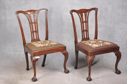Pair Of 18th Century Mahogany Chippendale Side Chairs (1 of 11)