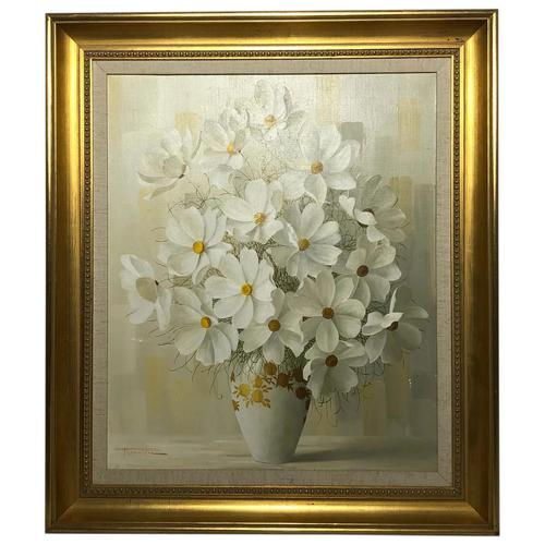 20th Century Oil Painting Still Life Bouquet Flowers Listed Elizabeth Rouviere (1 of 26)