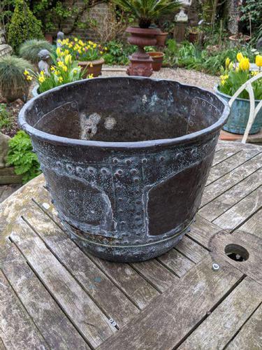 19th Century Copper Copper Urn Planter (1 of 3)