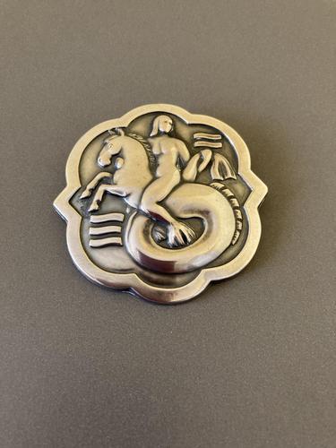 Georg Jensen Rare Silver Brooch. No 277 (1 of 3)