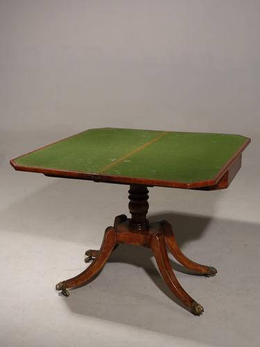 Regency Period Mahogany Card Table (1 of 6)