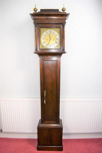 Small (77.5in) 8 Day Mahogany Grandfather Longcase Clock (1 of 7)