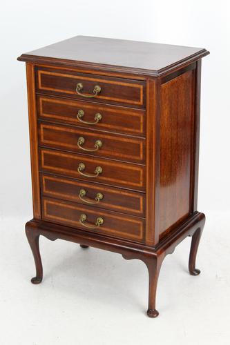 Edwardian Inlaid Mahogany Music Cabinet, George Laird & Son Glasgow (1 of 13)
