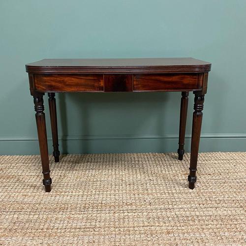 Elegant Regency Mahogany Antique Tea / Side Table (1 of 7)
