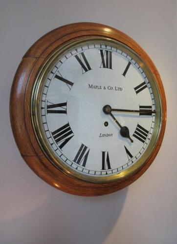 Antique Single Fusee London Wall Clock (1 of 7)