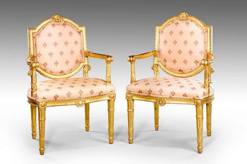 Pair of Italian 19th Century Elbow Chairs (1 of 10)