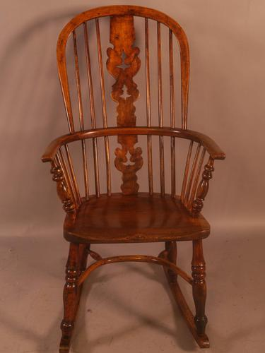 Windsor Rocking Chair in Ash & Elm (1 of 7)