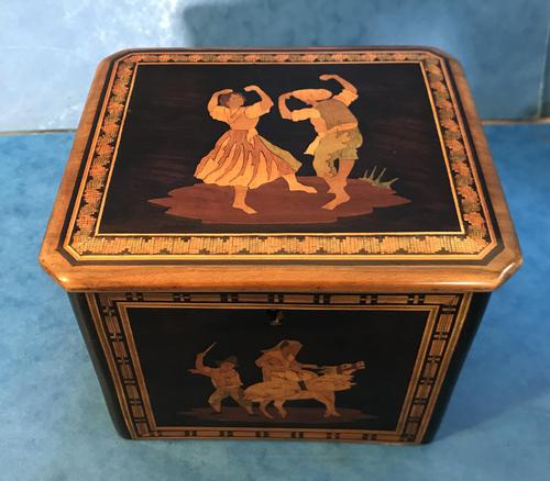 Victorian Italian  Sorento Ware Single Tea Caddy (1 of 16)