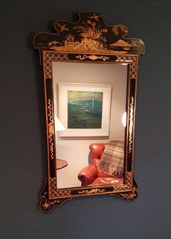 Antique Chinioserie Gilt Lacquered Wall Mirror (1 of 4)