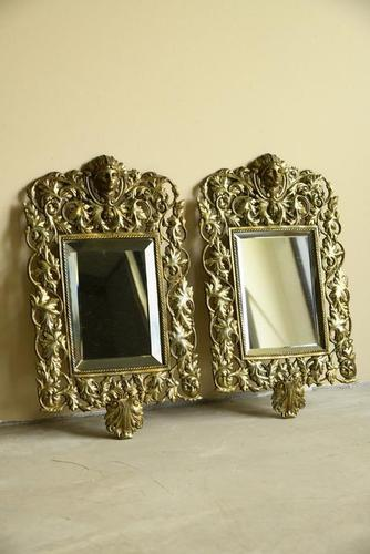 Pair of Brass Wall Mirrors (1 of 10)
