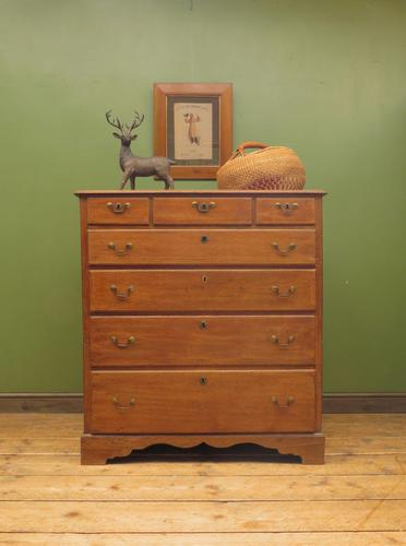 Antique Country Oak Chest of Drawers, 18th Century Chest in 2 Parts (1 of 17)