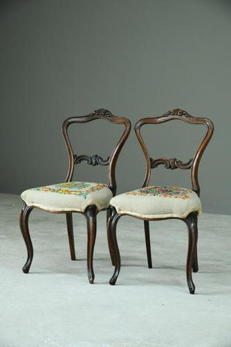 Pair of Rosewood Dining Chairs (1 of 9)