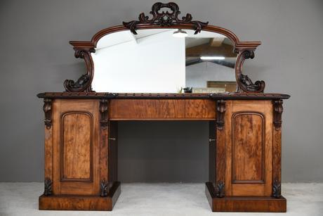 Victorian Mahogany Twin Pedestal Sideboard (1 of 12)