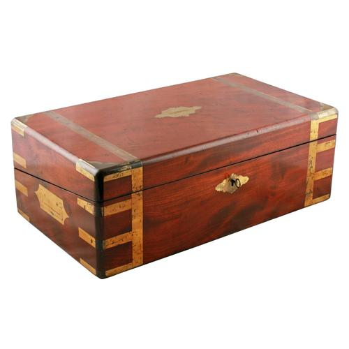 Campaign Style Mahogany Box Desk (1 of 9)