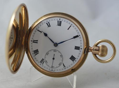 1929 9K Gold Full Hunter Pocket Watch, Stauffer IWC (1 of 5)