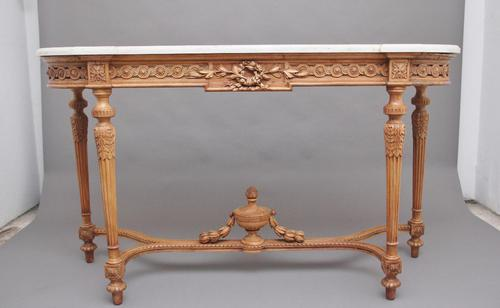 18th Century Pine and Marble Console Table (1 of 12)