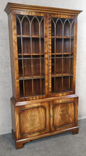 Mahogany Bookcase Bevan Funnell Reprodux V649 (1 of 10)