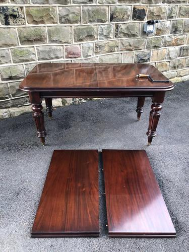 Antique Mahogany Wind Out Extending Dining Table (1 of 12)