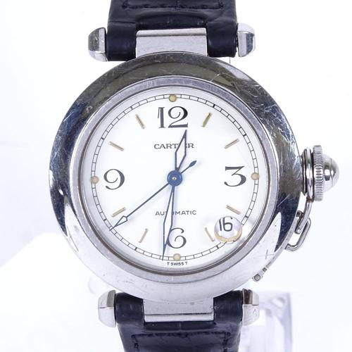 Mid-size Stainless Steel Pasha De Cartier Automatic Wrist Watch (1 of 4)