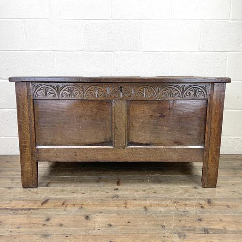 Antique 18th Century Welsh Oak Coffer (1 of 10)