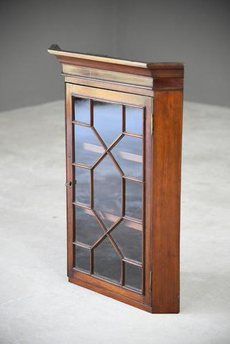 Small Antique Astragal Wall Hanging Cabinet (1 of 11)