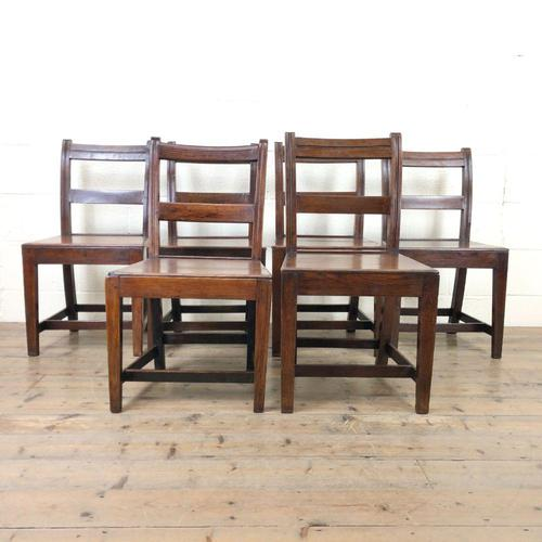 Set of Six Welsh Oak Farmhouse Kitchen Chairs with Bar Backs (1 of 9)
