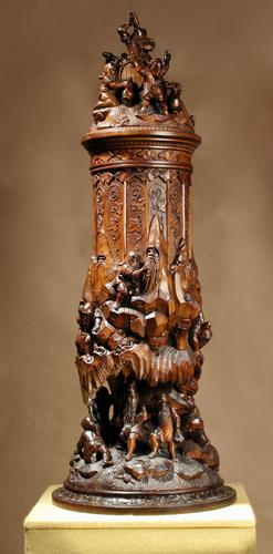 An Exceptional Very Fine Carved Lime Wood Black Forest Museum Quality Humidor / (1 of 20)