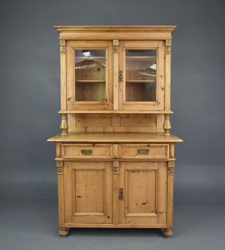 Victorian Pine Glazed Dresser (1 of 4)