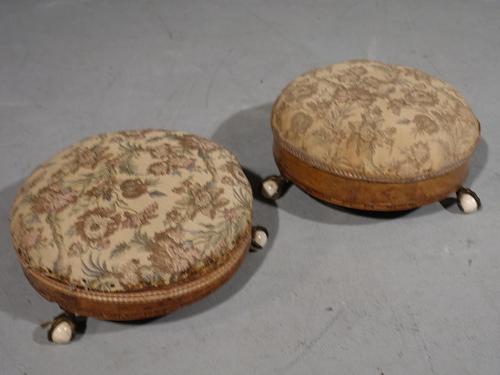 Attractive Pair of Mid Victorian Circular Stools (1 of 4)