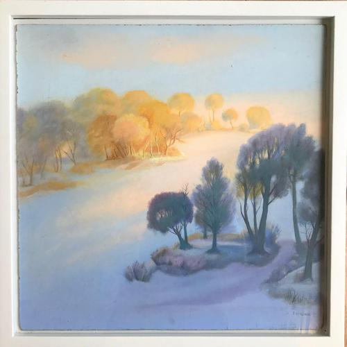 Original Tempera on board 'Early morning' by Peter Gardner ROI.RBA. b.1921. Signed . c.1985. Framed. (1 of 1)