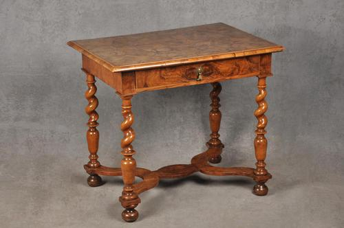 Rare 17th Century Olive Wood Oyster Side Table (1 of 14)