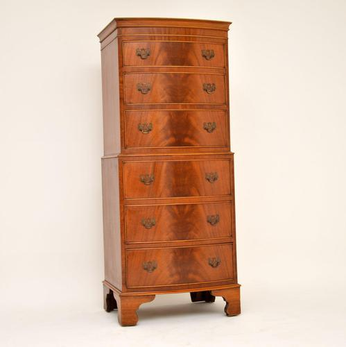 Antique Georgian Style Mahogany Chest on Chest (1 of 8)