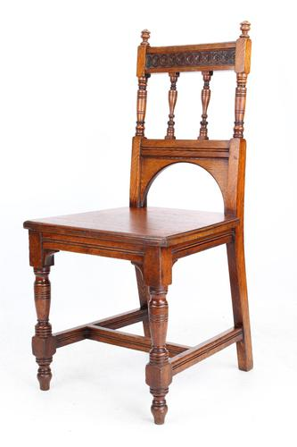 Late Victorian Oak Hall Chair (1 of 13)