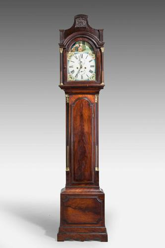 19th Century Mahogany Painted Dial Longcase Clock (1 of 6)