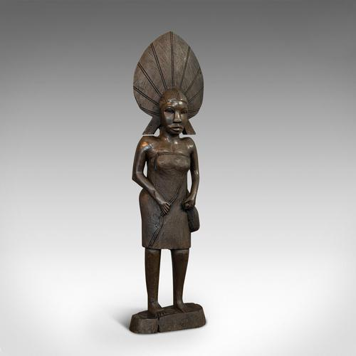 Antique Female Statue, African, Ebony, Hand Carved, Tribal Figure c.1900 (1 of 11)