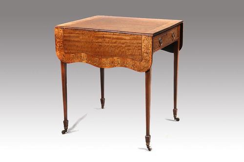 Fine George III Period Satinwood Pembroke Table (1 of 7)