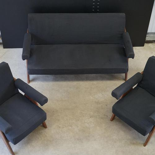 Upholstered Chandigarh Easy Armchair & Sofa by Pierre Jeanneret (1 of 8)