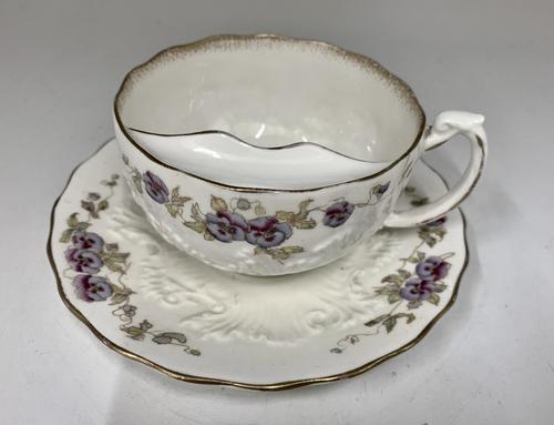 Victorian Moustache Cup & Saucer c.1892 (1 of 6)