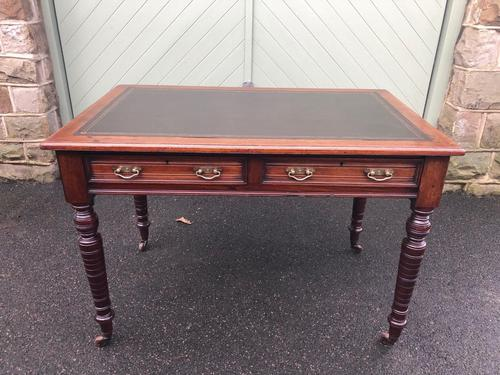 Antique Mahogany Two Draw Writing Table (1 of 11)