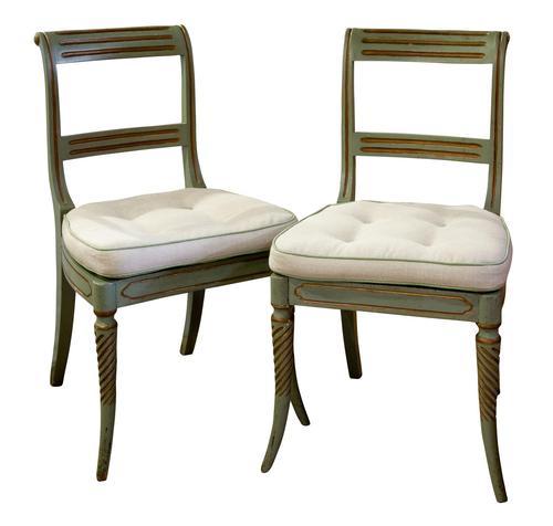 Pair of Regency Painted Side Chairs (1 of 7)